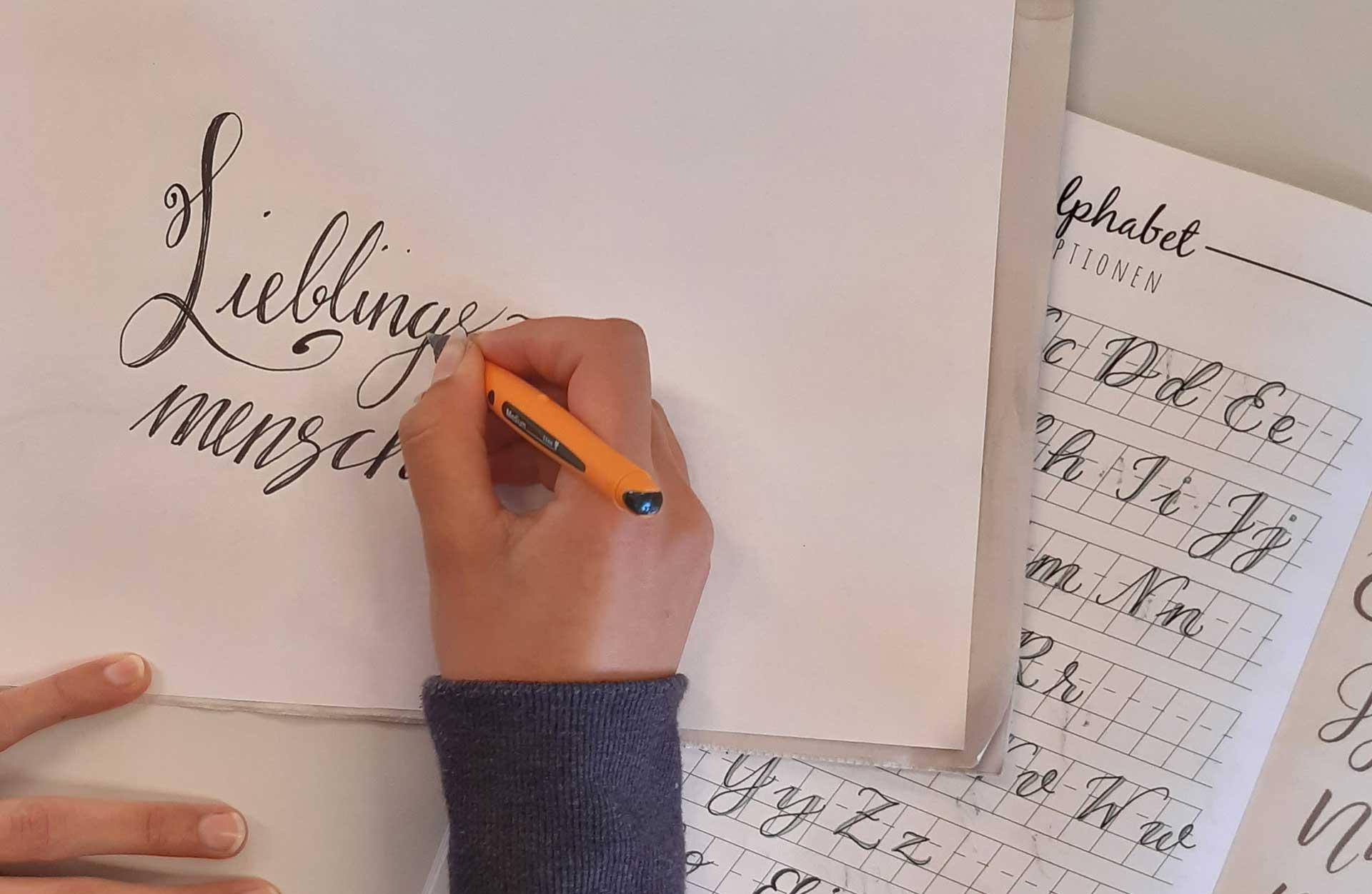 Die Kunst des schönen Schreibens