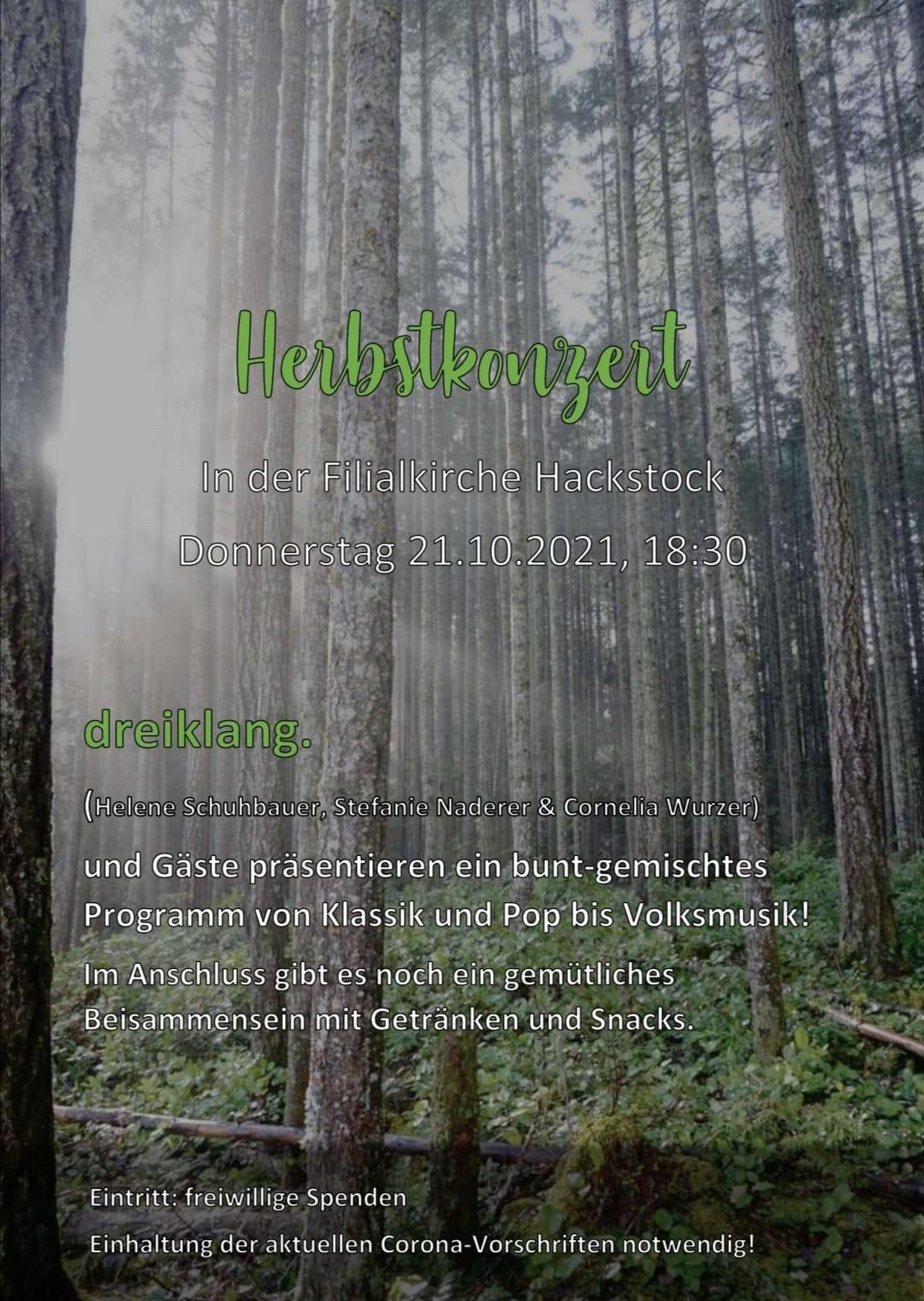 21.10. – Herbstkonzert